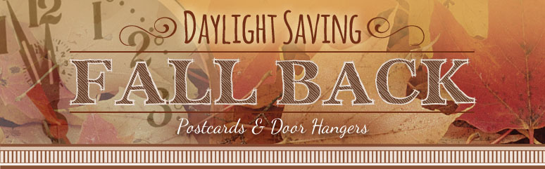 Daylight Saving - Fall Back Door Hangers